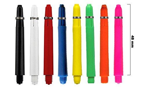Rocket Grip Dart Schäfte 24 Stück - 8 Farben - Längen XS, S, M (blau, M 4.8)