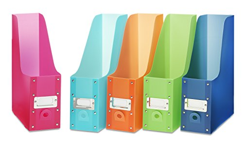 Whitmor Book & Magazine Organizers, Set di 5, Multicolore, Assorted, Set di 5