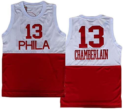 XSJY Camiseta De Baloncesto De Los Hombres, 76Ers # 13 Wilt Chamberlain Ropa De Baloncesto De Malla Bordado Baloncesto Retro Jerseys Azules,B,XL:180~185cm/85~95kg