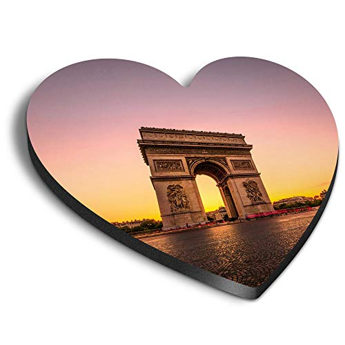Destination Vinyl ltd Aimants Coeur MDF - Triomphe Paris France pour bureau, armoire et tableau blanc, autocollants magnétiques, 3049