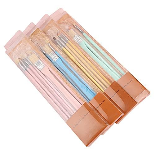 Pastel Al Óleo, Pincel Multifunción, Pincel De Tablero Y Juego De Bolígrafos De Gancho, 12 Juegos De 4 Colores
