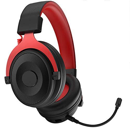 QNSQ Casque de Jeu monté sur la tête, Casque de Jeu à 7.1 canaux, Son Surround 3D, Microphone omnidirectionnel Amovible