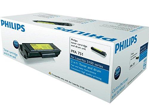Original Philips PFA751 / 253156799, für Laserfax 5120 Premium Drucker-Kartusche, Schwarz, 2000 Seiten