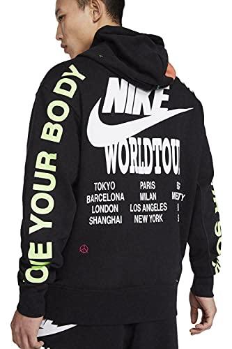 NIKE M NSW PO FT Hoodie WTOUR Sweatshirt, Black, Mens
