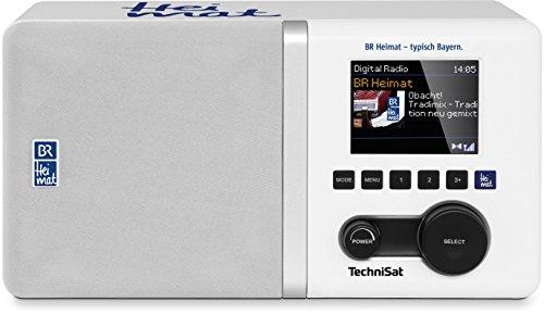 TechniSat DIGITRADIO 300 BR Heimat Edition - DAB Radio (DAB+, UKW, BR Heimat Direktwahltaste, Farbdisplay, Equalizer, Bassreflextube, Wecker, AUXin , Audio-Ausgang, Kopfhörerbuchse, 5 Watt RMS) weiß