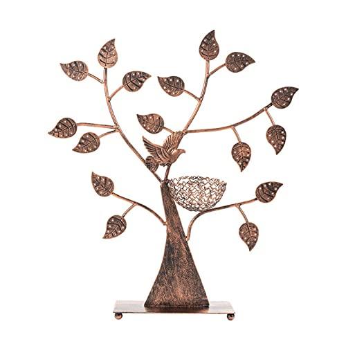 MMZB Estante de joyería Creativa en Forma de árbol, 48 Pares Pendientes, Organizador de joyería Retro para Collares y Anillo, Gran Regalo para Mujeres niña