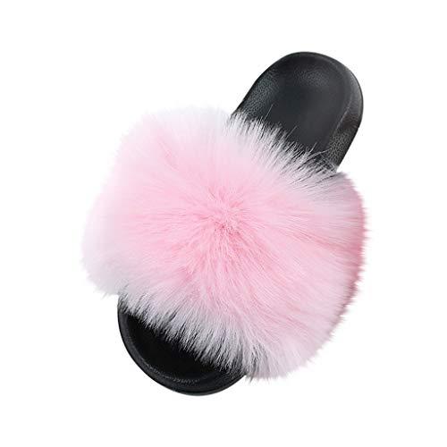 Slipper Frauen Mixed Colors Summer Elegant Lady Feste Bunte Outdoor-Schuhe (38,2Rosa)