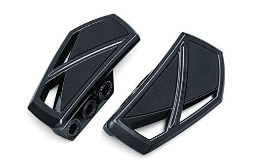 Kuryakyn 5773 Motorcycle Foot Control Component: Phantom Mini Board Floorboards without Adaptors, Gloss Black, 1 Pair
