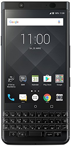 BlackBerry KEYone Business Smartphone (64GB interner Speicher, 4GB RAM, LTE, 12MP Kamera, 11,43 cm (4,5 Zoll IPS LCD Bildschirm)) schwarz