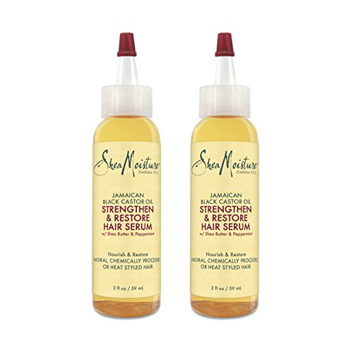 Shea Moisture Jamaican Black Castor Oil Strengthen & Restore Hair Serum, 2 Oz, Pack of 2