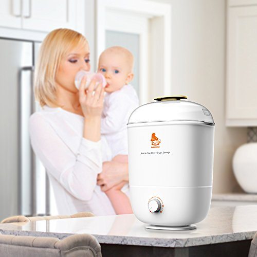 Balla Bébé Babyflaschen Sterilisator Elektrischer Dampfsterilisator und Trockner, 3 in 1 Flaschen Trockner für verschiedene Nuckelflaschen, Sterilisierung, Trockner und Flaschenlagerung - 2