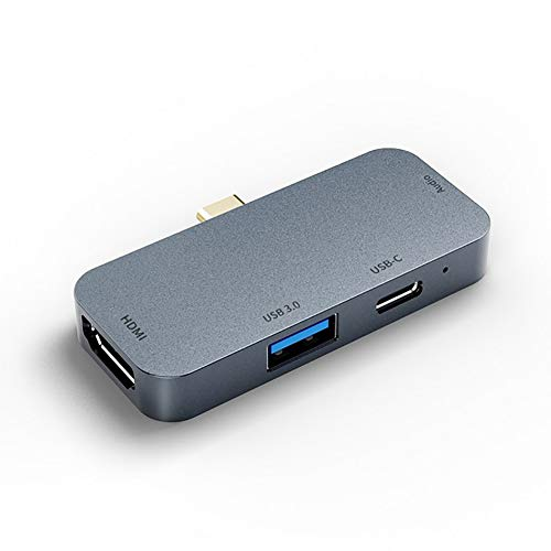 QQO USB C Hub, Hub Adapter Usb C To HDMI 3.5 Audio Dock USB-C Hub Adapter USB 3.0 4K HD Display 60W Type-C PD Charging 3.5Mm Audio