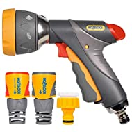 Premium gun with durable metal accents Lockable on/off trigger flow for when watering for longer periods of time Seven spray patterns for all cleaning and gardening tasks