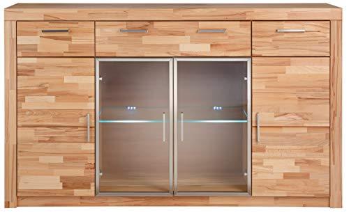 Möbeldesign Team 2000 Highboard Anrichte Kommode Sideboard Kernbuche teilmassiv 3468-13