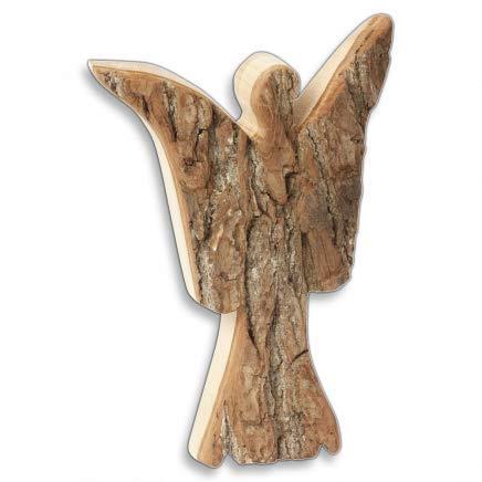HOFMEISTER® Engel mit Rinde aus Holz 20 cm