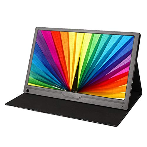 YILANJUN Portátil Monitor de Juegos - 17.3', FHD, LCD Pantalla para Comercial/Oficina (1920 × 1080, 1080P, 60HZ, Audio de 2.5MM + Mini HDMI + Type-C) 411 × 258 × 11MM, Metal Cepillado Negro
