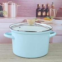 Soup pot enamel pot porridge pot household pot storage barrel rice barrel soup stock kitchen cookware cooking tool steam (...