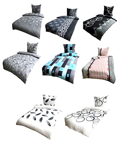 BaSaTex Winter Bettwäsche 100% Microfaser Flausch Fleece, Thermofleece 3 Größen, 4tlg. 135x200 80x80 cm London Türkis
