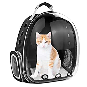 SSAWcasa Cat Backpack Carrier Bubble,Large Transparent Pet Backpack Bag,Portable Ventilated Carry Backpack for Cat & Small Dog,Airline Approved Waterproof Pet Carrier Bag for Hiking Outdoor Use
