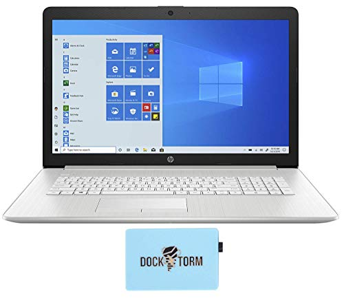 HP 17-ca2097nr Laptop (AMD Ryzen 3 3250U 2-Core, 8GB RAM, 256GB PCIe SSD + 2TB HDD, AMD Vega 3, 17.3' Full HD, WiFi, Bluetooth, Webcam, 1xHDMI, Win 10 Pro (Renewed)