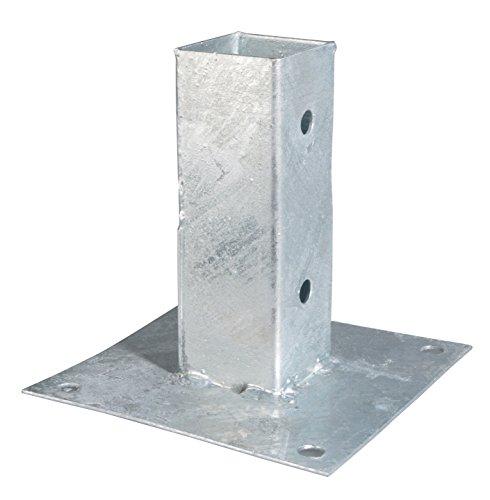 GAH-Alberts 211608 Aufschraubhülse für Vierkantholzpfosten - feuerverzinkt, 61 x 61 mm