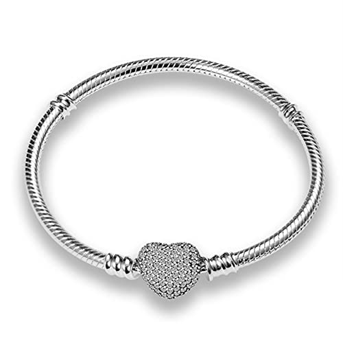 TTGE Qikaola Authentic Classic Series 100% 925 Sterling Silver Heart Bracelet Fit Original Beads Charms DIY Jewelry Gift For Women