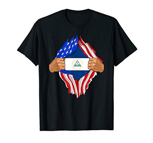 Nicaraguan Blood Inside Me T-Shirt | Nicaragua Flag Gift