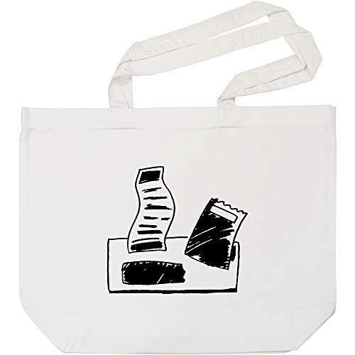 Azeeda \'Papierrechnungen\' Weiße Einkaufstasche (BG00008397)