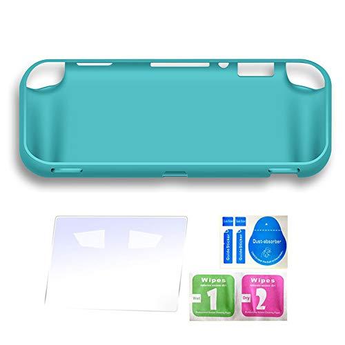 GoolRC Étui de Protection en TPU Souple Mat Accessoires de Peau de Couverture pour Nintendo Switch Lite avec 4 Emplacements pour Cartes de Jeu