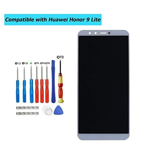 Upplus - Pantalla LCD de Repuesto Compatible con Huawei Honor 9 Lite LLD-AL00,LLD-AL10,LLD-TL10,LLD-L31, Color Blanco