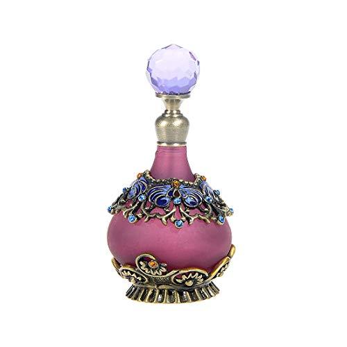 CHICAI Botellas de Perfume vacío de la Vendimia púrpura Decoración Mini Recargables Botellas de Aceite Esencial for la Fragancia Restaurar, Dresser decoración de la Tabla, Regalos, 25ml Viajar