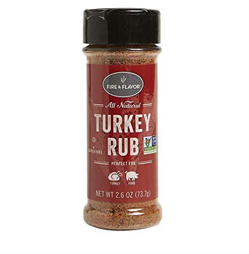 Fire & Flavor FFF143 All Natural Turkey Rub, 2.6 Oz, red