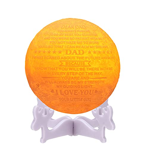 Personalized Bonus Step Fathers Day Gifts for SeniorsCool 3D Moon...