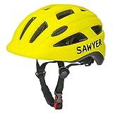 Sawyer Bikes - Casco Infantil Ajustable - Niños 2, 3, 4 y 5 Años (Amarillo)