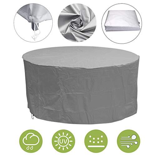 XQKXHZ Schutzhülle Für Runden Tisch, 210D Oxford-Gewebe PVC Coatin Wasserdicht Winddicht Anti-UV-Patio-Möbel-Abdeckungen, Für Sofas Und Stühle, Silber,120x75cm