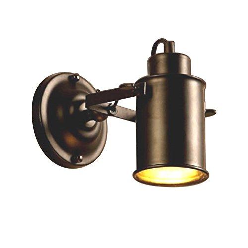 Retro Vintage E27 Wandlampe schwenkbare Flurlampe E27 40W warmweiß Strahler Industrielampe für Café Keller Bar Flur Küchen Büro Schlafzimmer,Schwarz,Ohne Birne
