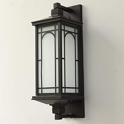 LGOO1 Lámpara de pared antigua simple, linterna de aluminio impermeable Luz de pared Personalidad creativa Iluminación exterior montada en la pared Clásico Vintage Villa Puerta Hall Jardín Patio E27 D