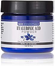 Pure Hyaluronic Acid Serum Powder   100% NATURAL   High Molecular Weight   Locks in moisture and creates full, youthful skin - Makes 50+ ounces of anti aging Hyaluronic Acid serum!