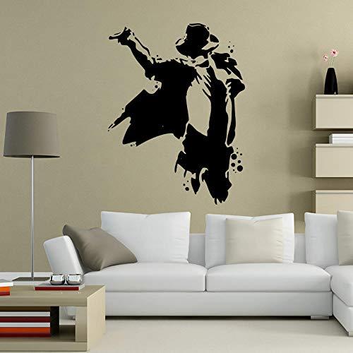 Ksnrang Art Design a Buon Mercato Ritratto Decorazione della casa Vinile Michael Jackson Wall Sticker Rimovibile Musica Stella Star Decalcomania decalco Decorazioni per camera57x43cm