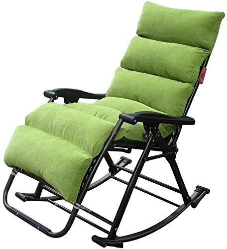 OESFL Sillas reclinables Silla Plegable al Aire Libre Sun Ocioso sillas de jardín Chaise Lounge Verde Violeta Verde Doble reclinables Espesa la Oficina portátil Almuerzo Siesta Silla Mecedora Lavable