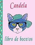 libro de bocetos de Candela: Candela Páginas en blanco con cubierta multicolor de paint art para pin...
