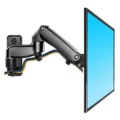 N/Z Inicio Equipos Soporte de TV Aleación de Aluminio 360 Grados 17 27 Soporte de Monitor Brazo de Resorte de Gas LED TV LCD Soporte de Pared Carga 2 7kgs (Color: Gris Plateado)