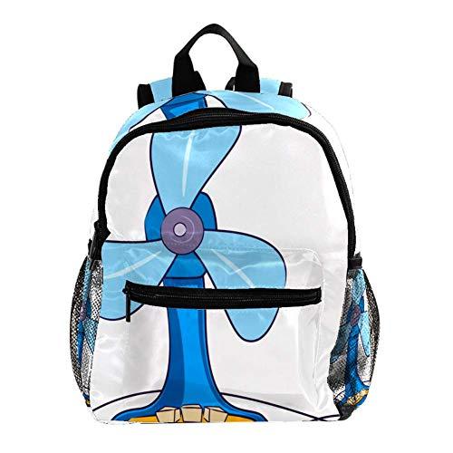 Ventilador eléctrico Mochila 3-8 años Mochila Ligera para niños pequeños para Preescolar...