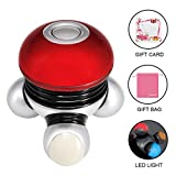 Hand Held Massager Mini Portable Body Vibrating Massage with Led Light...
