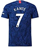 2019/2020 Season NO.7 Mens Soccer T-Shirts Home Jersey Blue (Medium)