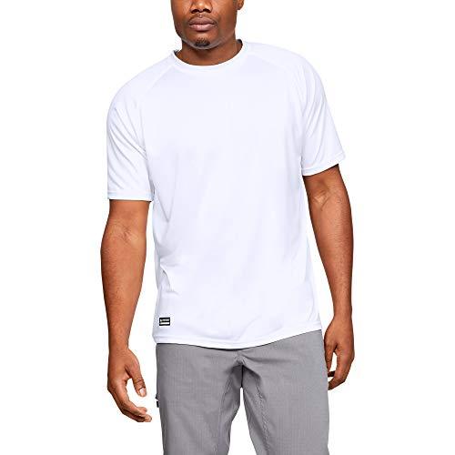 Under Armour UA TAC Tech T, T-Shirt Ua Tac Tech T Homme, Blanc (White/White), X-Large