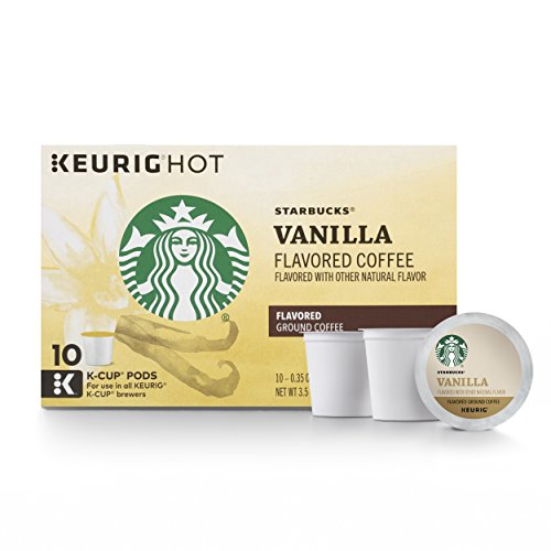 Starbucks Flavored K-Cup Coffee Pods — Vanilla for Keurig Brewers — 6 boxes (60 pods total)