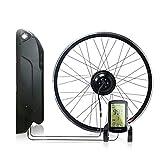 OUYA 12.8AH 36V 350W Kit de conversión de Bicicleta eléctrica con batería y Pantalla LCD, 20 '', 26 '', 27.5 '', 29 '', 700C,27.5''