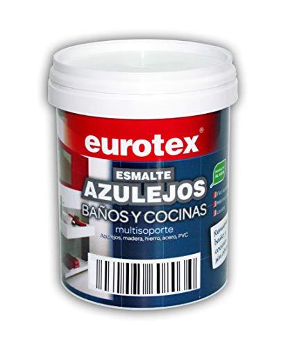 Pintura mate para azulejos de baños y cocinas multisoporte Eurotex - 750 ml - (Blanco mate)