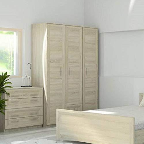 AZURA HOME DESIGN - Armadio Agatha, colore: quercia chiaro